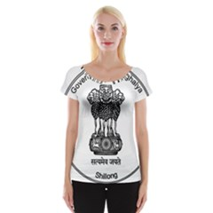Seal Of Indian State Of Meghalaya Women s Cap Sleeve Top by abbeyz71