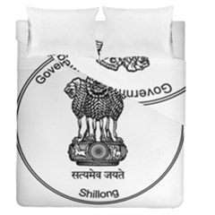Seal Of Indian State Of Meghalaya Duvet Cover Double Side (queen Size) by abbeyz71