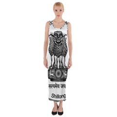 Seal Of Indian State Of Meghalaya Fitted Maxi Dress by abbeyz71