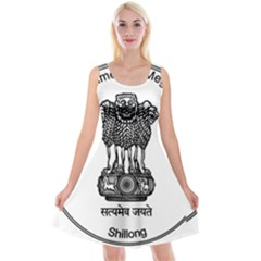 Seal Of Indian State Of Meghalaya Reversible Velvet Sleeveless Dress by abbeyz71