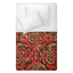 Red And Brown Pattern Duvet Cover (single Size) by linceazul