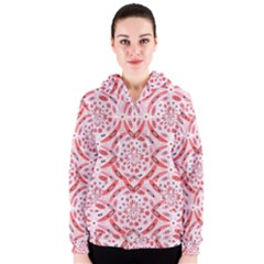 Geometric Harmony Women s Zipper Hoodie by linceazul