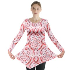 Geometric Harmony Long Sleeve Tunic  by linceazul