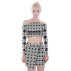 Geometric Modern Baroque Off Shoulder Top With Skirt Set by dflcprintsclothing