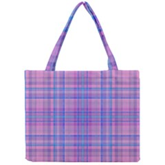 Plaid Design Mini Tote Bag by Valentinaart