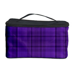 Plaid Design Cosmetic Storage Case by Valentinaart
