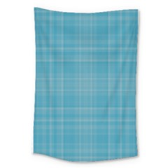 Plaid Design Large Tapestry