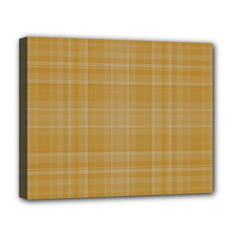 Plaid Design Deluxe Canvas 20  X 16   by Valentinaart