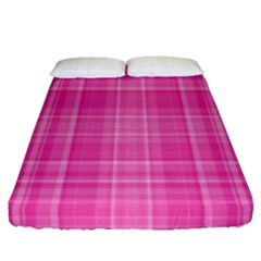 Plaid Design Fitted Sheet (queen Size)