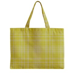 Plaid Design Zipper Mini Tote Bag by Valentinaart