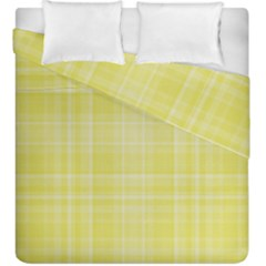 Plaid Design Duvet Cover Double Side (king Size) by Valentinaart