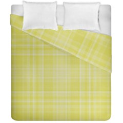 Plaid Design Duvet Cover Double Side (california King Size)