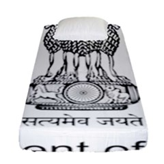 Seal Of Indian State Of Mizoram Fitted Sheet (single Size) by abbeyz71