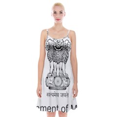 Seal Of Indian State Of Mizoram Spaghetti Strap Velvet Dress by abbeyz71