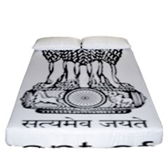 Seal Of Indian State Of Mizoram Fitted Sheet (king Size) by abbeyz71