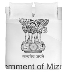 Seal Of Indian State Of Mizoram Duvet Cover Double Side (queen Size) by abbeyz71