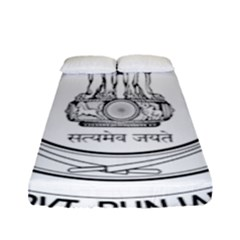 Seal Of Indian State Of Punjab Fitted Sheet (full/ Double Size) by abbeyz71