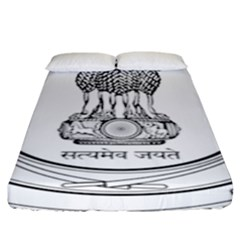 Seal Of Indian State Of Punjab Fitted Sheet (king Size) by abbeyz71