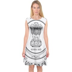 Seal Of Indian State Of Punjab Capsleeve Midi Dress