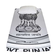 Seal Of Indian State Of Punjab Fitted Sheet (single Size) by abbeyz71