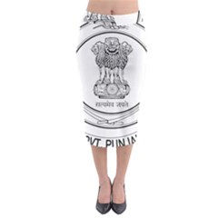 Seal Of Indian State Of Punjab Midi Pencil Skirt