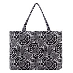 Metallic Mesh Pattern Medium Tote Bag by linceazul