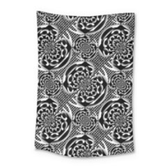Metallic Mesh Pattern Small Tapestry by linceazul