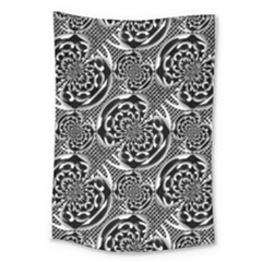 Metallic Mesh Pattern Large Tapestry by linceazul