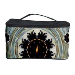 Wood In The Soft Fire Galaxy Pop Art Cosmetic Storage Case by pepitasart
