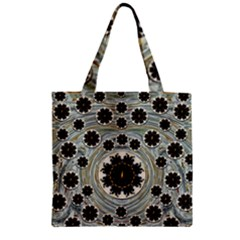 Wood In The Soft Fire Galaxy Pop Art Zipper Grocery Tote Bag by pepitasart