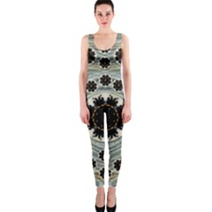Wood In The Soft Fire Galaxy Pop Art Onepiece Catsuit by pepitasart