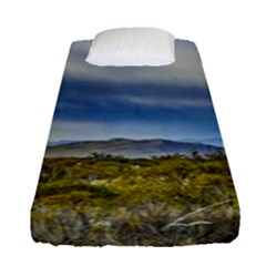 Patagonian Lanscape Scene, Santa Cruz, Argentina Fitted Sheet (single Size) by dflcprints