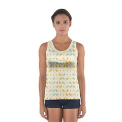 Birds And Daisies Women s Sport Tank Top  by linceazul