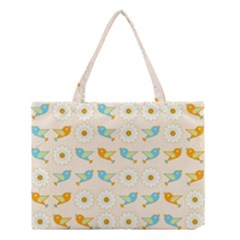 Birds And Daisies Medium Tote Bag by linceazul