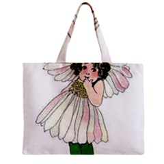 Daisy Vintage Flower Child Cute Funny Floral Little Girl Mini Tote Bag by yoursparklingshop
