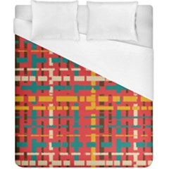 Colorful Line Segments Duvet Cover (california King Size) by linceazul