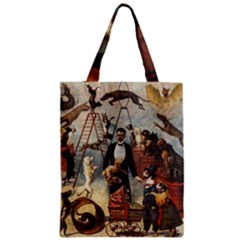 Dog Circus Zipper Classic Tote Bag by Valentinaart