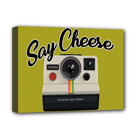 Say Cheese Deluxe Canvas 16  X 12   by Valentinaart