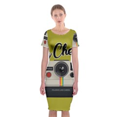 Say Cheese Classic Short Sleeve Midi Dress by Valentinaart