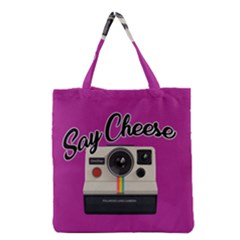 Say Cheese Grocery Tote Bag