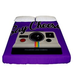 Say Cheese Fitted Sheet (California King Size)