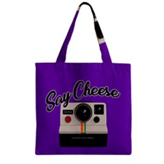 Say Cheese Zipper Grocery Tote Bag