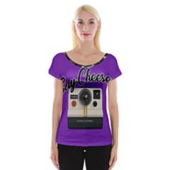 Say Cheese Women s Cap Sleeve Top