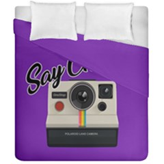 Say Cheese Duvet Cover Double Side (California King Size)