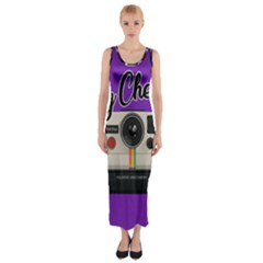 Say Cheese Fitted Maxi Dress