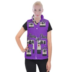 Say Cheese Women s Button Up Puffer Vest