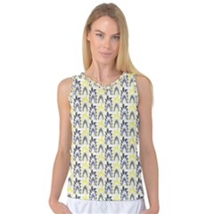 Tricolored Geometric Pattern Women s Basketball Tank Top by linceazul