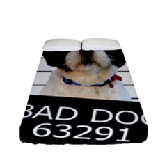 Bad Dog Fitted Sheet (full/ Double Size) by Valentinaart