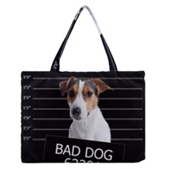 Bad Dog Medium Zipper Tote Bag by Valentinaart
