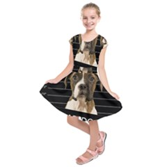 Bad Dog Kids  Short Sleeve Dress by Valentinaart
